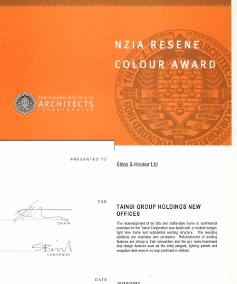 NZIA Resene Colour Award